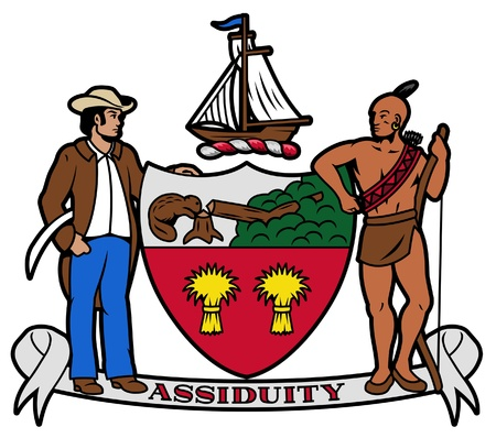 albany: Flag or coat of arms of Albany city in the U.S.A