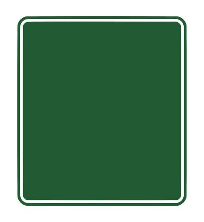 motorway: Blank green traffic sign isolated on white background with copy space.