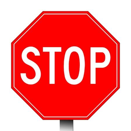 cease: Segnale di stop rosso isolato su uno sfondo bianco.