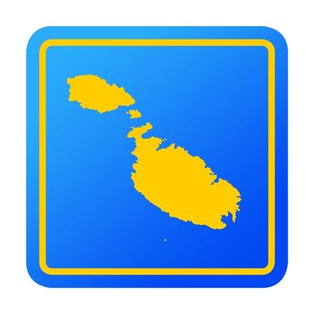 maltese map: Malta European button isolated on a white background  Stock Photo