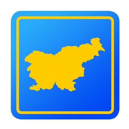 slovenia: Slovenia European button isolated on a white background  Stock Photo