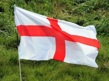 saint george: English Cross of Saint George flag blowing in wind.