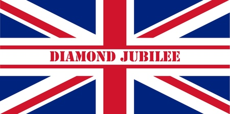 Diamond Jubilee Union Jack flag to celebrate Queen Elizabeth II with 60 years on the throne. photo