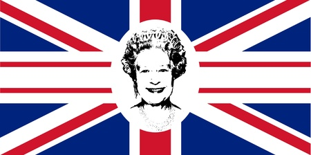 Diamond Jubilee Union Jack flag to celebrate Queen Elizabeth II with 60 years on the throne. Stock Photo - 13877297