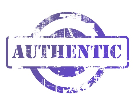 authenticity: Authentic stamp with copy space isolated on white background.
