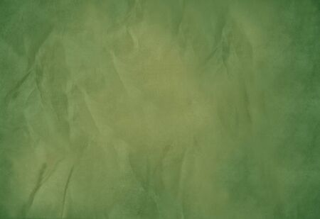 Old green paper background with textured effect and copy space. Stock Photo