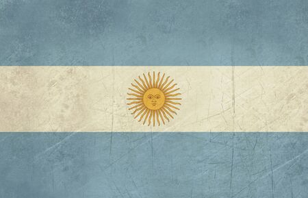 sovereign: Grunge sovereign state flag of country of Argentina in official colors. Stock Photo