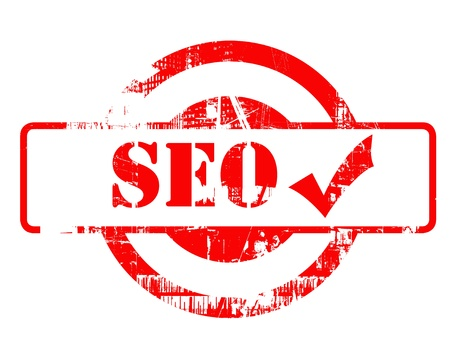 optimized: SEO approved red stamp red stamp with copy space isolated on white background. Stock Photo