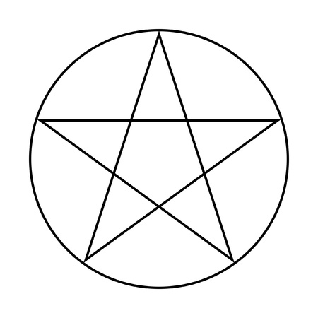 wicca: Wicca Pentacle sign isolated on a white background.