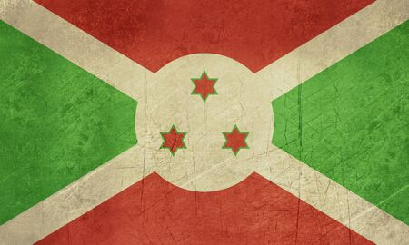 sovereign: Grunge sovereign state flag of country of Burundi in official colors.