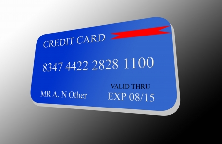 Credit card on a gradient background