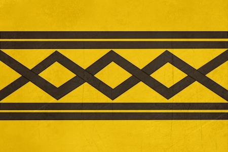 Grunge offical flag of West Midlands region, England.