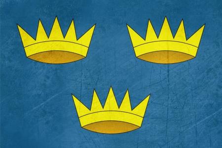 munster: Grunge official Province of Munster flag in Ireland