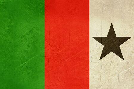welsh flag: Grunge bandiera gallese ufficiale Tricolore repubblicano dal Galles.