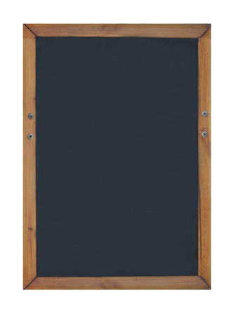 Blank chalk or blackboard with wooden frame and copy space. photo