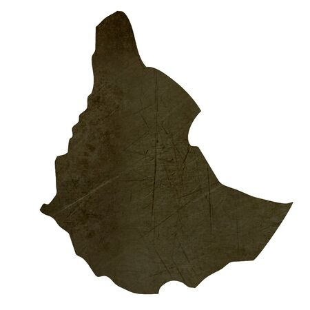 Dark silhouetted and textured map of Sudan isolated on white background. Stock Photo - 17079515