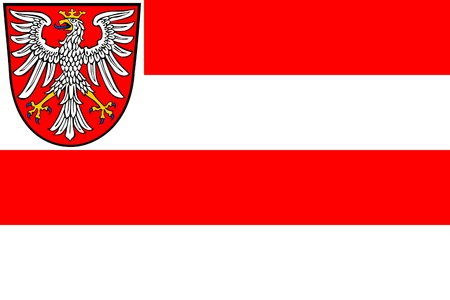 frankfurt: Illustration of Frankfurt city flag, Germany Stock Photo