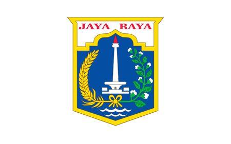 jakarta: Illustration of Jakarta city flag, Indonesia.