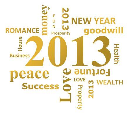 twenty thirteen: Year 2013 infographic isolated on white background.