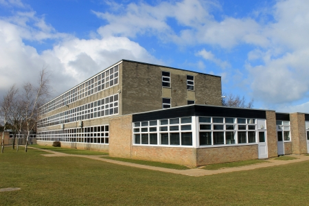 secondary school: Exterior of English secondary school building, Scarborough. Stock Photo