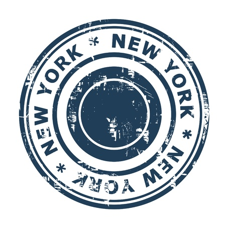 New York travel stamp isolated on a white background. photo
