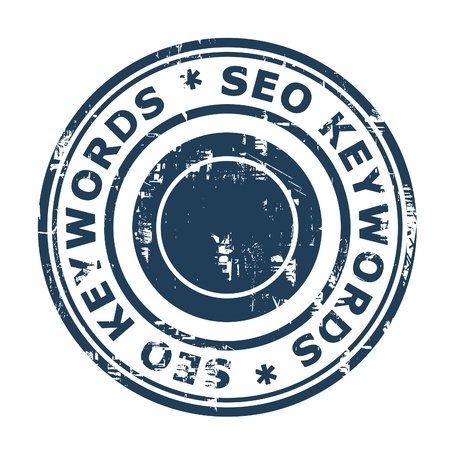 SEO keywords concept stampconcept stamp isolated on a white background Stock Photo - 19427699