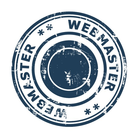 webmaster: Webmaster SEO concept stamp isolated on a white background  Stock Photo