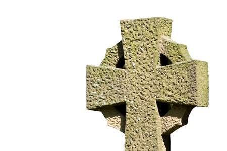 croce celtica: Croce celtica isolato su uno sfondo bianco.