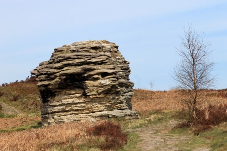 erode: Rock formation in North Yorkshire Moors National Park, England. Stock Photo