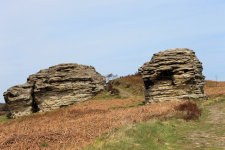 Scenic view of eroded rock stacks in North Yorkshire Moors National Park, England. Stock Photo - 20111525