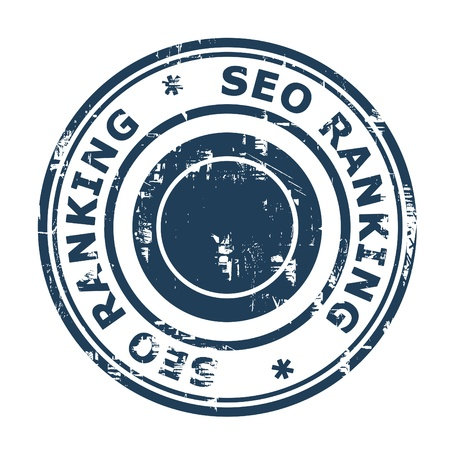 SEO ranking concept stamp isolated on a white background. photo