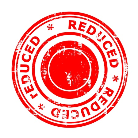 Reduced concept stamp isolated on a white background. photo