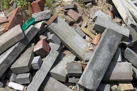 Abstract background of rubble in pile. Stock Photo - 20989881