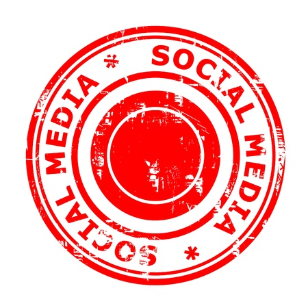 Social media concept stamp isolated on a white background  photo