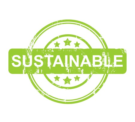 energy ranking: Green sustainable stamp with stars isolated on a white background.