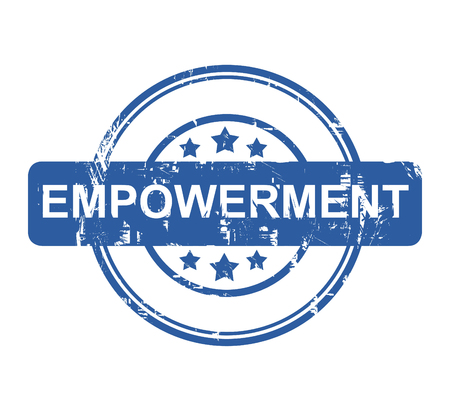 empowerment: Business Empowerment blue stamp with stars isolated on a white background. Stock Photo