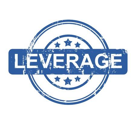 leverage: Aproveche sello negocios con estrellas aisladas sobre un fondo blanco.