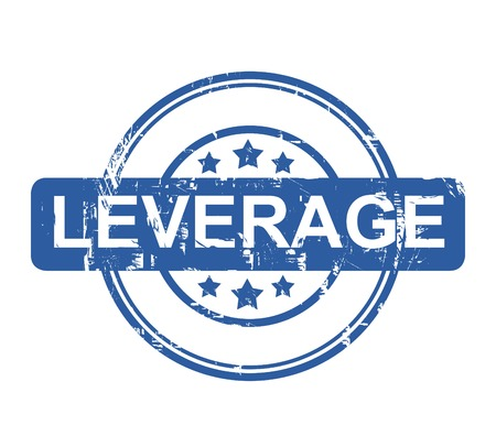 leverage: Leverage business stamp with stars isolated on a white background. Stock Photo