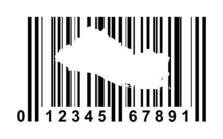 mapa de el salvador: El Salvador comercial de código de barras aisladas sobre fondo blanco.