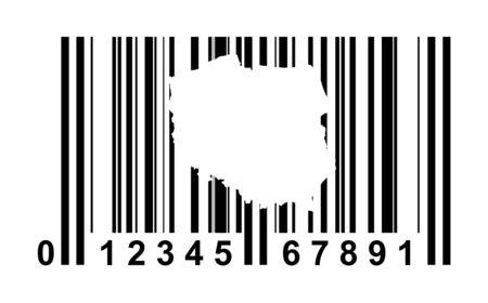 Poland shopping bar code isolated on white background. photo