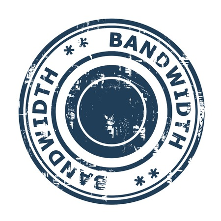 bandwidth: Bandwidth concept stamp isolated on a white background.