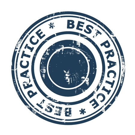 best practice: Best Practice concept stamp isolated on a white background. Stock Photo