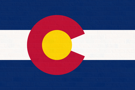 colorado flag: Colorado state flag of America, isolated on white background.