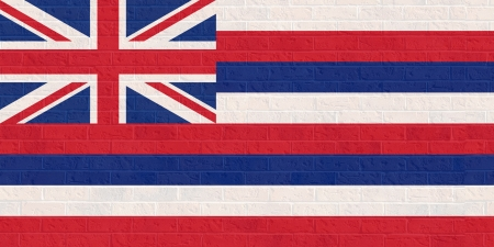 hawaii flag: Hawaii state flag of America, isolated on white background.