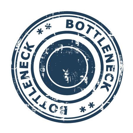 bottleneck: Bottleneck concept stamp isolated on a white background.