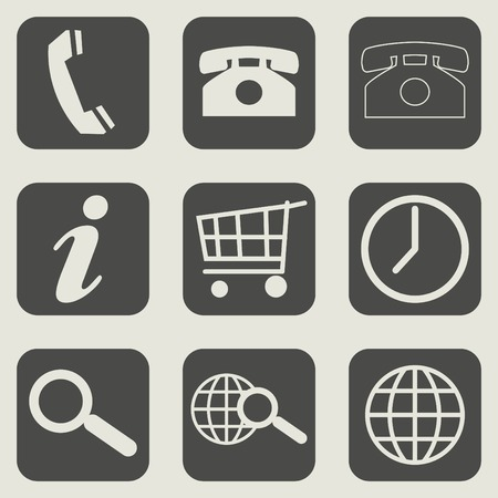 Set of different flat web design business icons. photo