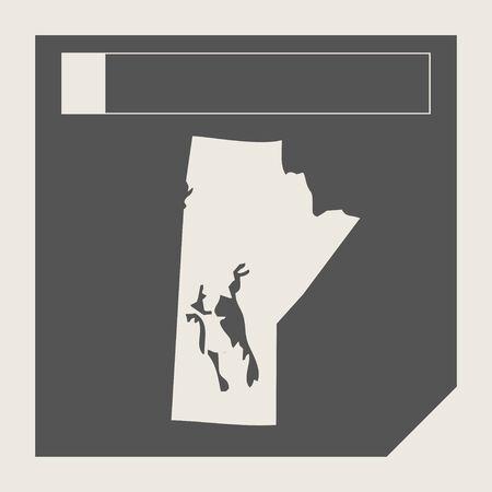 manitoba: Manitoba state in Canada responsive flat web design map button