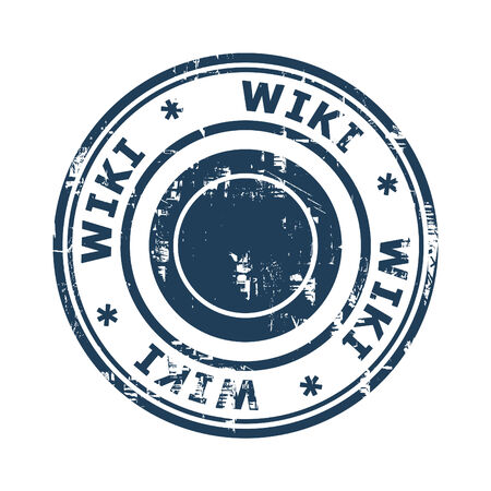 wiki: Wiki concept stamp isolated on a white background. Stock Photo