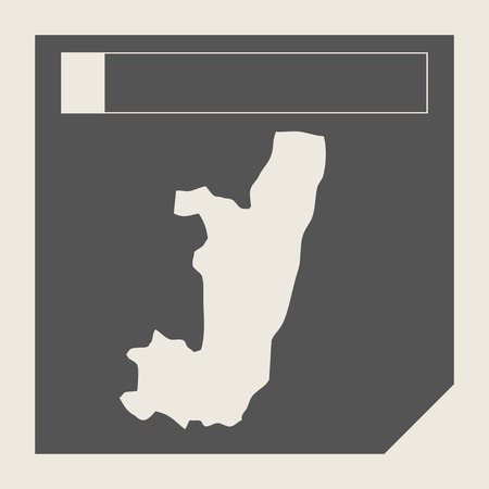 congo: Congo map button in responsive flat web design map button isolated with clipping path.