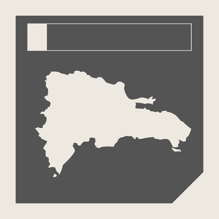 dominican: Dominican Republic map button in responsive flat web design map button isolated with clipping path.